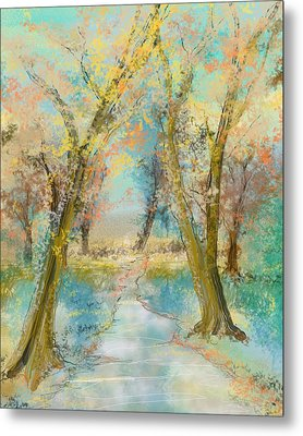 Autumn Sketch Metal Print