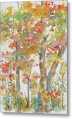 Metal Print featuring the painting Autumn Splendor by Pat Katz