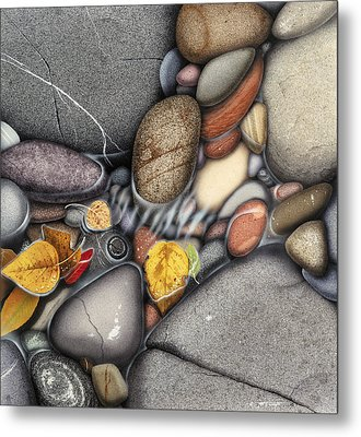 Autumn Stones Metal Print by JQ Licensing