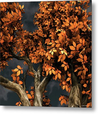 Autumn Storm Metal Print