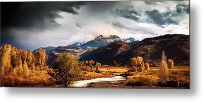Metal Print featuring the photograph Autumn Stream In Colorado by Andrew Soundarajan