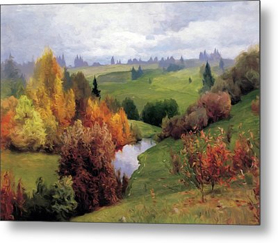 Autumn Valley Of Dreams Metal Print