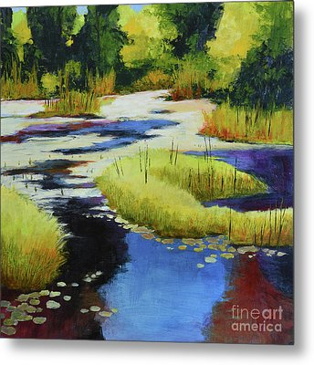 Autumn Water Garden 2 Metal Print by Melody Cleary