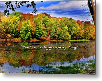 Metal Print featuring the photograph Autumn Wonders Giving by Diane E Berry