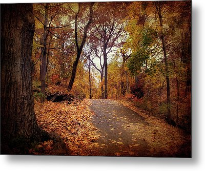 Autumn's Final Act Metal Print by Jessica Jenney
