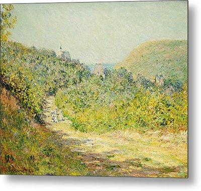 Aux Petites Dalles Metal Print by Claude Monet