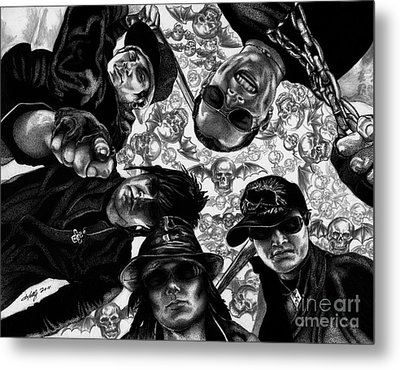 Avenged Sevenfold Metal Print by Kathleen Kelly Thompson