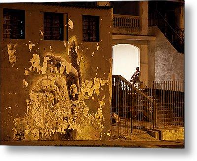 Metal Print featuring the photograph Avenue De Los Presidentes Havana Cuba by Charles Harden