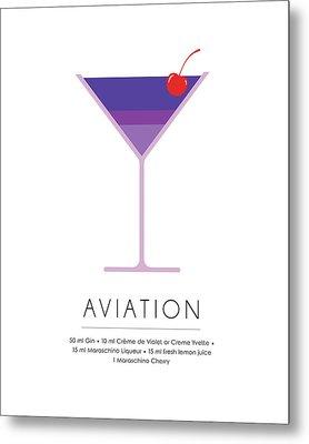 Aviation Classic Cocktail Minimalist Print Metal Print
