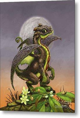 Avocado Dragon Metal Print by Stanley Morrison