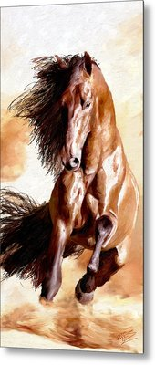 Metal Print featuring the painting Away The Lad by James Shepherd