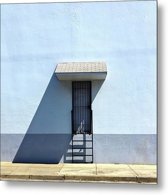 Awning Shadow Metal Print