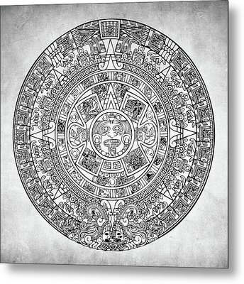 Metal Print featuring the photograph  Aztec Sun by Taylan Apukovska