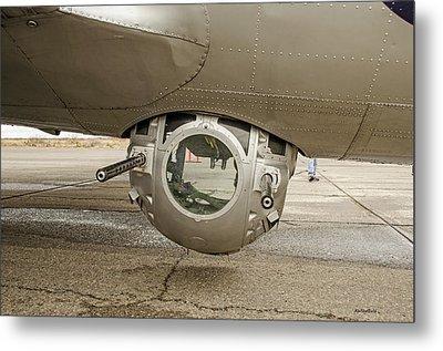 B-17 Ball Turret Metal Print by Allen Sheffield
