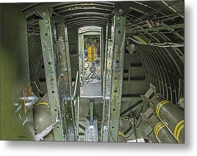 B-17 Interior Metal Print by Allen Sheffield