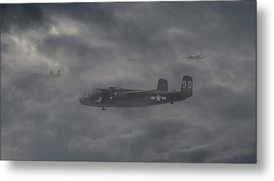 Metal Print featuring the digital art B25 - 12th Usaaf by Pat Speirs