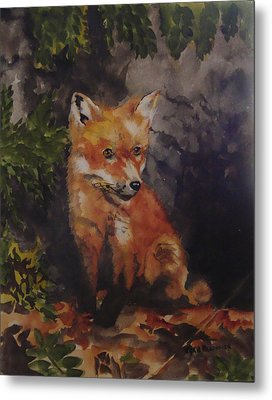Babe In The Woods Metal Print by Jean Blackmer