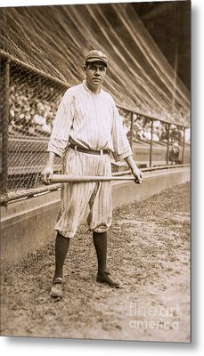 Babe Ruth On Deck Metal Print