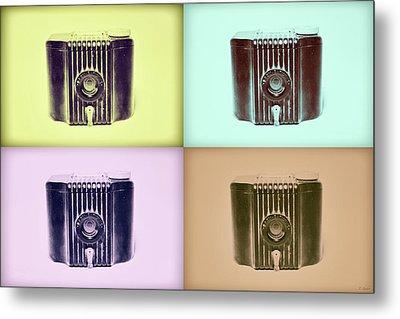 Baby Brownie Camera Four Panel Art Deco Print Metal Print