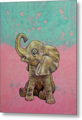 Baby Elephant Metal Print by Michael Creese