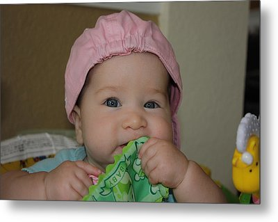 Metal Print featuring the photograph Baby Face by Michael Albright