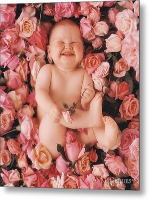Baby Flowers 2 Metal Print by Anne Geddes