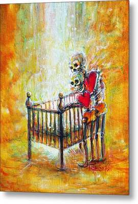Metal Print featuring the painting Baby Love by Heather Calderon