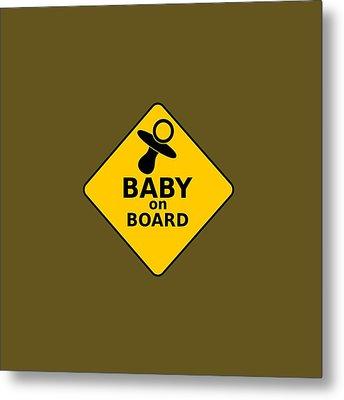 Baby On Board Metal Print by Michelle Murphy