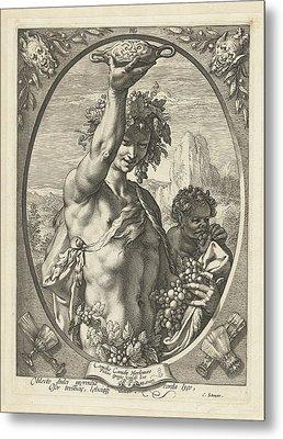 Bacchus God Of Ectasy Metal Print by R Muirhead Art