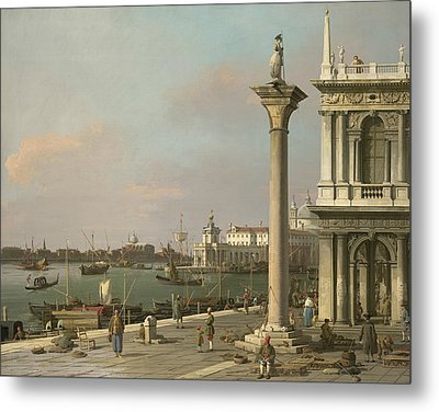 Bacino Di S. Marco - From The Piazzetta Metal Print by Canaletto