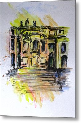 Back Side Basilca St Mary Major Metal Print by Clyde J Kell