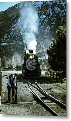 Backing Into The Station Metal Print by Jason Coward