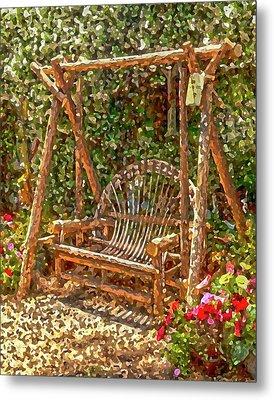 Backyard Garden Metal Print