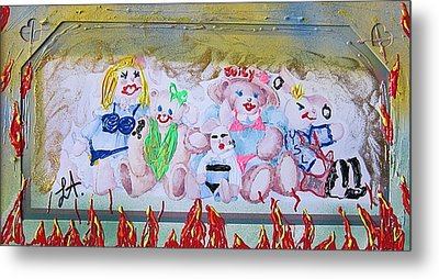 Metal Print featuring the painting Bad Bears by Lisa Piper