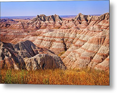 Metal Print featuring the photograph Badlands by Mary Jo Allen
