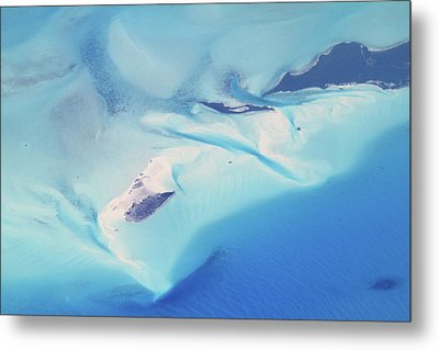 Metal Print featuring the photograph Bahama Banks Aerial Seascape by Roupen  Baker
