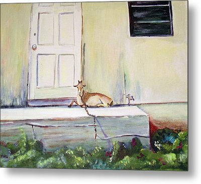 Metal Print featuring the painting Bahama Goat by Patricia Piffath