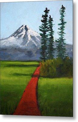 Metal Print featuring the painting Baker Meadow by Nancy Merkle