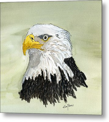 Metal Print featuring the painting Bald Eagle by Eva Ason