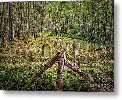 Bales Cemetery Metal Print by Patrick Shupert