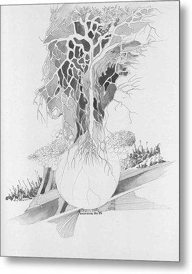 Ball And Tree Metal Print