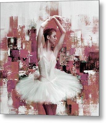 Ballerina Dance Painting 457 Metal Print by Gull G