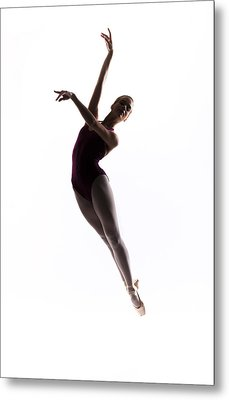 Ballerina Jump Metal Print by Steve Williams