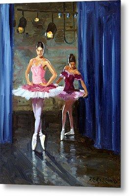 Ballerinas Backstage Metal Print by Roelof Rossouw