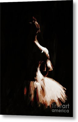 Ballet Woman 9j Metal Print by Gull G