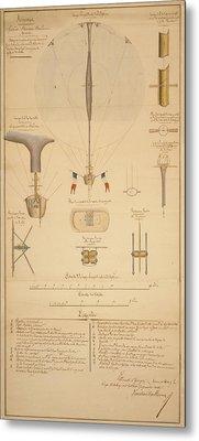 Balloon Patent Metal Print