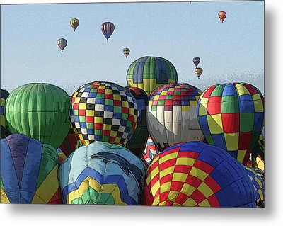 Metal Print featuring the photograph Balloon Traffic Jam by Marie Leslie