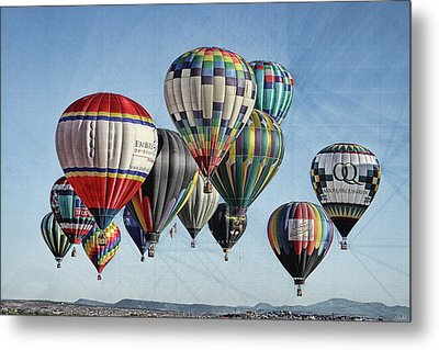 Metal Print featuring the photograph Ballooning by Marie Leslie
