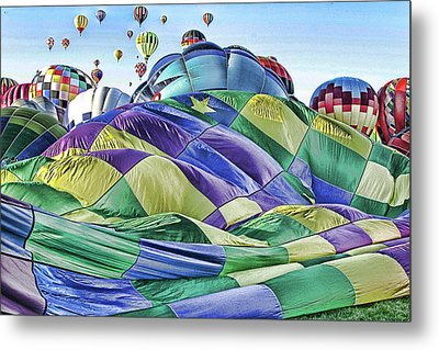Metal Print featuring the photograph Ballooning Waves by Marie Leslie