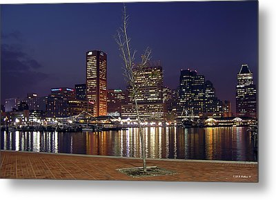 Metal Print featuring the photograph Baltimore Reflections by Brian Wallace